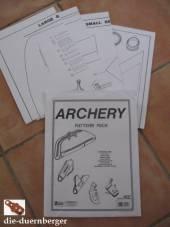 Schnittmuster Bogenschießen (Archery)