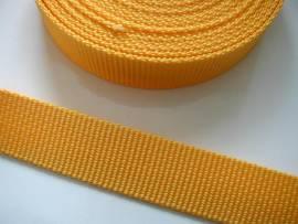 Gurtband 25 mm gelb stark
