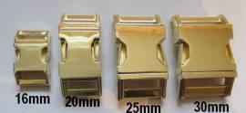 Metall Steckschließe 30 mm gold Messing - Bild vergrößern