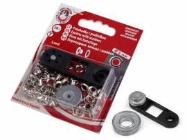 Ösen mit Scheiben + Werkzeug 7 mm (13mm) - Bild vergrößern