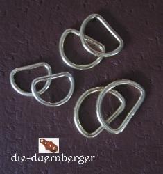 D-Ring 20 x 15 x 3,0 mm vermessingt
