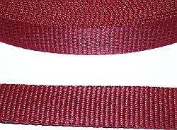 Gurtband 25 mm bordeaux