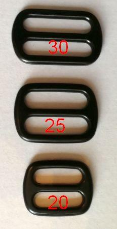 Schieber Metall 20 mm schwarz
