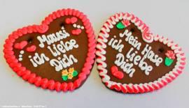 Lebkuchenherzen Spruch,Mein Schatz ich lieb Dich  - Bild vergrößern