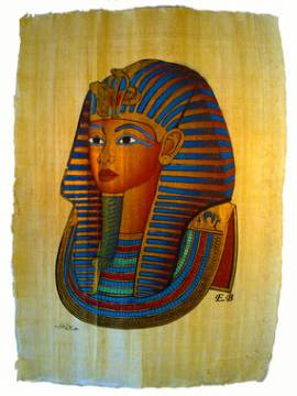 Papyrus Maske Tutanchamun - Bild vergrößern