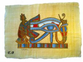 Papyrus Das Auge des Horus - Bild vergrößern