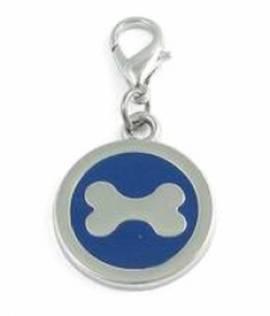 Halsbandanhänger 25mm -Knochen- dunkelblau 14-9101-DB - Bild vergrößern