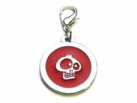 Halsbandanhänger 25mm -Totenkopf- rot 14-9200 - Bild vergrößern