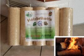 Holzbriketts - 10Kg-Pakete auf Palette 960 Kilo