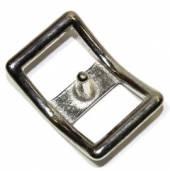 Conwayschnalle 13 mm Messing vernickelt 12-5019