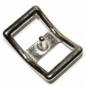 Conwayschnalle 16 mm Messing vernickelt 12-5021