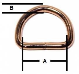 D-Ring geschweisst rosegold 20x3,0 mm 11-4003 - Bild vergrößern