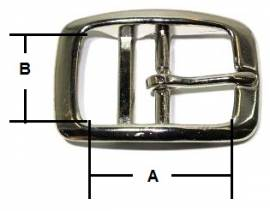 Doppelstegschnalle  25 mm Messing 12-5017 - Bild vergrößern
