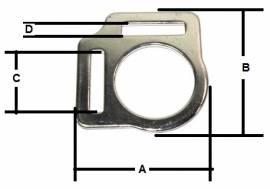 Halfterring 16mm mit zwei Schlaufen Messing vernickelt  12-5061 - Bild vergrößern