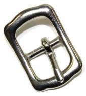 Stegschnalle 20 mm Messing vernickelt  ( Islandschnalle ) 12-5016