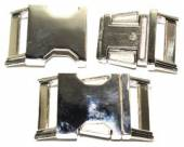 Klickverschluss 25mm aus Druckguss Hochglanz vernickelt  10-3002