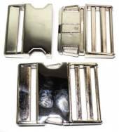 Klickverschluss 50mm aus Druckguss Hochglanz vernickelt  10-3003