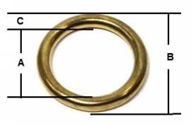 Ring  Messing VERNICKELT 16 mm  12-3031 - Bild vergrößern