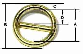 Ring mit Steg Messing 20x3,5 12-3051 - Bild vergrößern