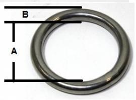 Rundring geschweisst V4A 6x45 mm 16-2011-1 - Bild vergrößern