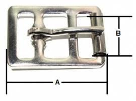 Sattelgurtschnalle 25 mm Stahl vernickelt  14-6016 - Bild vergrößern