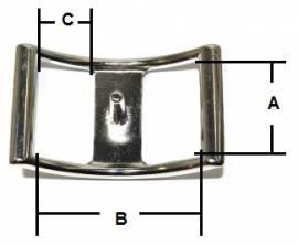 Schiffchen- Conwayschnalle 17 mm Edelstahl  16-4011 - Bild vergrößern