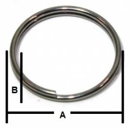 Schlüsselring / Sicherungsring V4A 30x1,5mm 16-2021 - Bild vergrößern