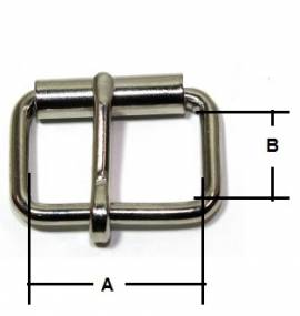 Stegschnalle 13 mm Messing vernickelt 12-5002 - Bild vergrößern