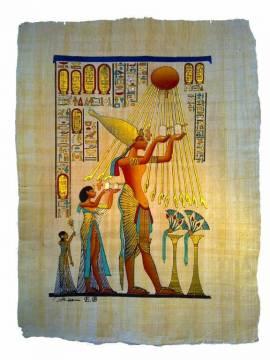 Papyrus Paharo Achnaton, die Sonnenscheibe