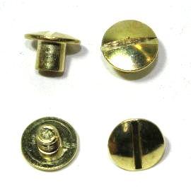 Buchschraube Stahl vermessingt 5mm Fassung 14-7100