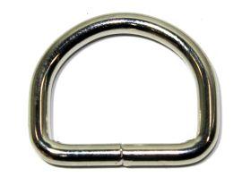 D-Ring geschweisst vernickelt 45x35x6,5 mm 14-4014