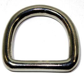 D-Ring  Messing vernickelt 25 mm 12-4103