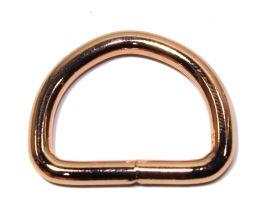 D-Ring geschweisst rosegold 30x3,8 mm 11-4007