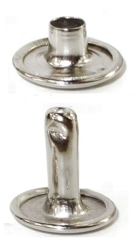 Doppel Hohlniete 6,8 x 8,5 x 3,8mm Stahl vernickelt 14-6170