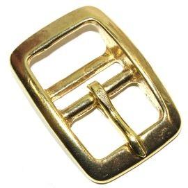 Doppelstegschnalle  25 mm Messing 12-5017