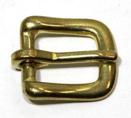 Geschirrschnalle 14 mm Messing   12-5070