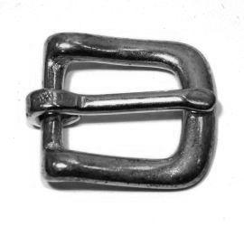 Geschirrschnalle 16 mm Messing vernickelt 12-5075
