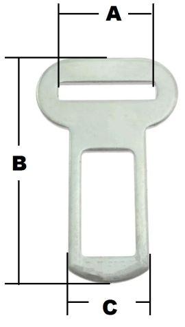 Gurtschloss Schnalle 25mm verchromt 14-1023