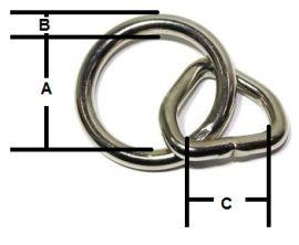 Halfterring 26mm vernickelt 14-3040