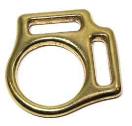 Halfterring 20mm mit zwei Schlaufen Messing 12-5028