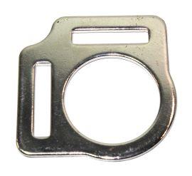 Halfterring 26mm mit zwei Schlaufen vernickelt  14-6013