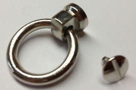 Halsbandring 16 / 10mm zum Aufschrauben NICKELFREI 10-5003