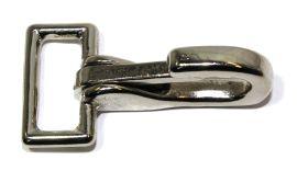 Karabinerhaken Messing -vernickelt- 25 mm 12-0019
