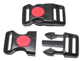 Steckschnalle gebogene Form mit Sicherung 25 mm 18-2025