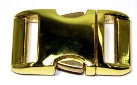 Klickverschluss 20mm aus Aluminium Hochglanz vermessingt 20-2101