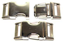 Klickverschluss 20mm aus Druckguss Hochglanz vernickelt 10-3001