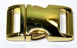 Klickverschluss 25mm aus Aluminium Hochglanz vermessingt 20-2102
