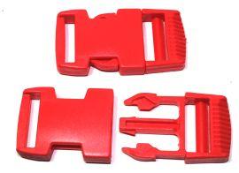 Steckschnalle gerade Form rot 25 mm 18-4009