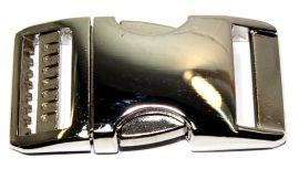 Klickverschluss 25mm verstellbar aus Aluminium Hochglanz vernickelt 20-3002