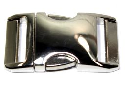 Klickverschluss 25mm aus Aluminium Hochglanz vernickelt 20-2002